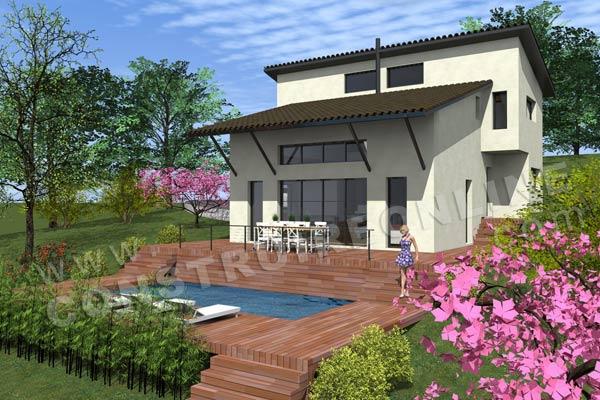 Plan de maison moderne idylle for Maison moderne piscine