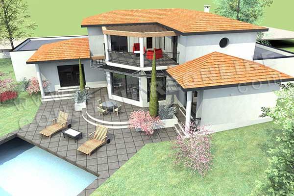 Plan de maison moderne eterna for Modele de plan de maison moderne