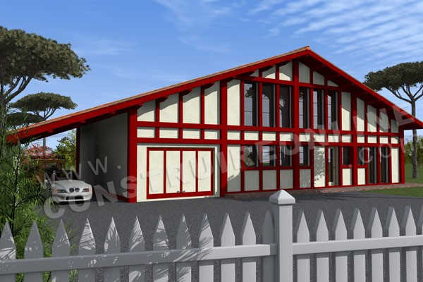 Plan de maison moderne LABOURDINE