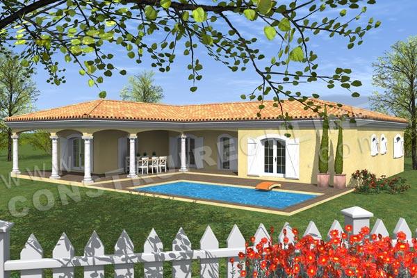 Plan de maison marquise for Type de toiture maison