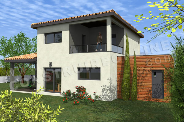 plan maison cottage moderne