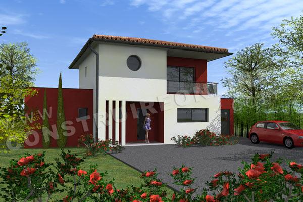 Plan de maison moderne latitude for Porche maison moderne