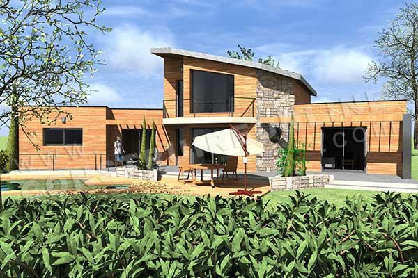 Plan de maison moderne bahia for Plan maison sud est