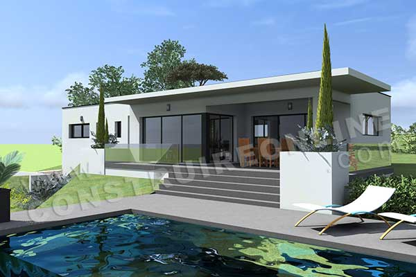 Plan de maison contemporaine hemisphere for Voir sa maison en 3d
