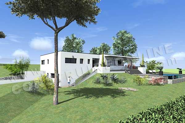House plan Contemporary HEMISPHERE