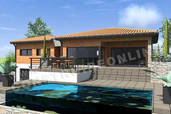 Plan de maison moderne autan - Modele interieur maison moderne ...