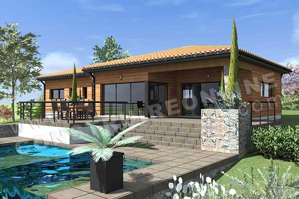 Vente de plan de maison avec terrain en pente for Terrasse 3d