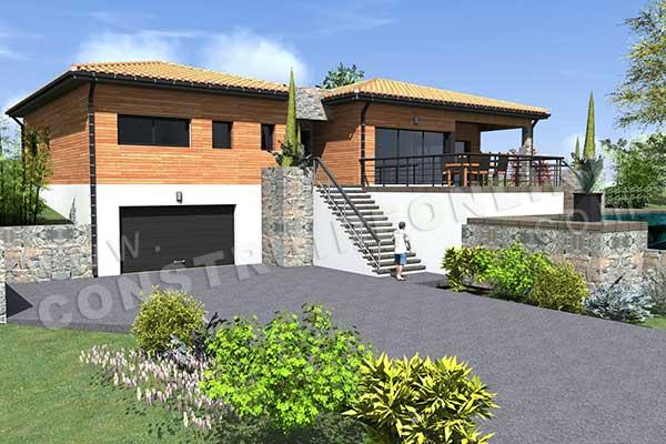 Plan de maison moderne autan for Modele maison avec sous sol complet