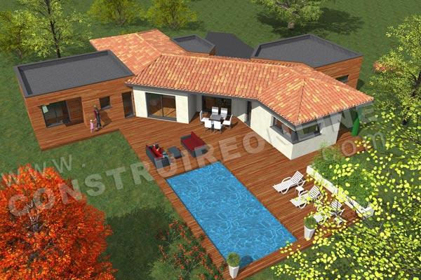 plan de maison moderne orion. Black Bedroom Furniture Sets. Home Design Ideas