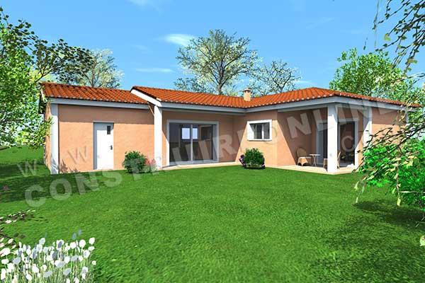 Plan de maison traditionnelle pivoine for Voir sa maison en 3d