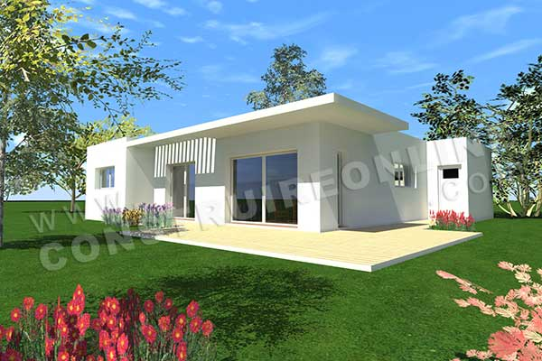 Plan de maison contemporaine storia for Plan petite maison contemporaine