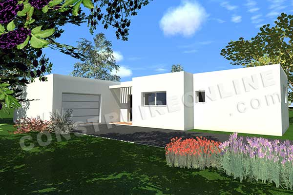 Plan de maison contemporaine storia for Simulation construction maison 3d gratuit