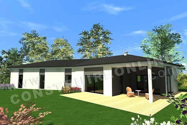 vente de plan de maison plain pied. Black Bedroom Furniture Sets. Home Design Ideas