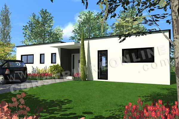 Plan de maison contemporaine flyer for Plan entree maison