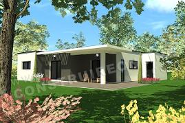 plan de maison contemporaine pas cher TRAVEL 1