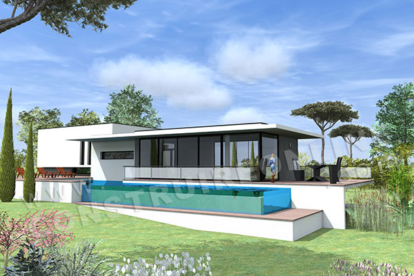 vente de plan de maison avec terrain en pente. Black Bedroom Furniture Sets. Home Design Ideas
