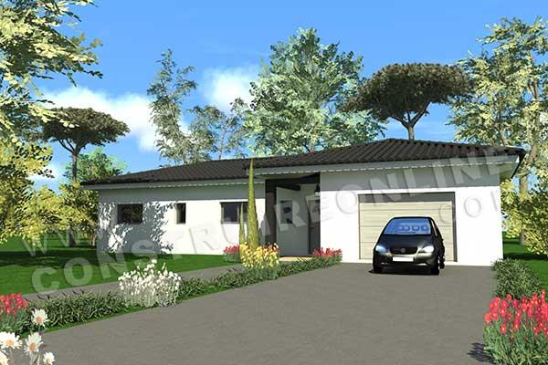 Plan de maison moderne malaga for Voir sa maison en 3d