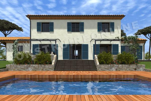 Plan de maison traditionnelle bastide for Construction piscine 3d