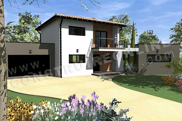 plan de maison moderne harmony. Black Bedroom Furniture Sets. Home Design Ideas