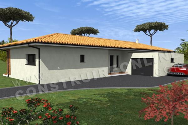 Plan De Maison Sans Toit. Simple Maison Moderne Avectoiture Plan ...