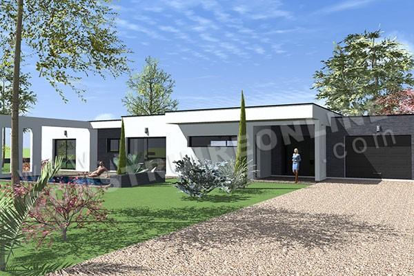 Hervorragend Plan de maison contemporaine ANABY IX79