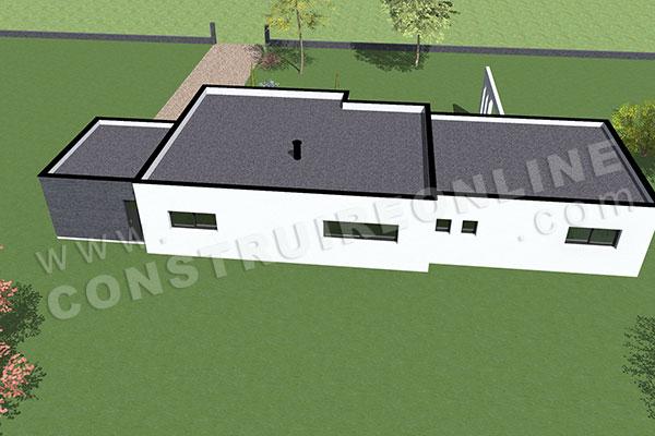 Plan de maison contemporaine anaby for Plan maison toit plat gratuit