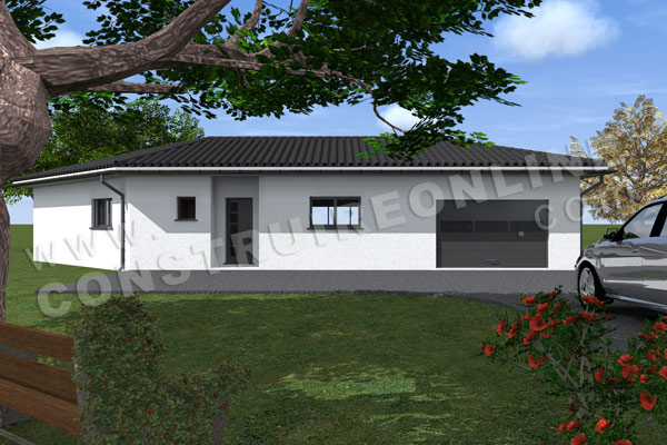 Plan de maison moderne oxford for Voir sa maison en 3d