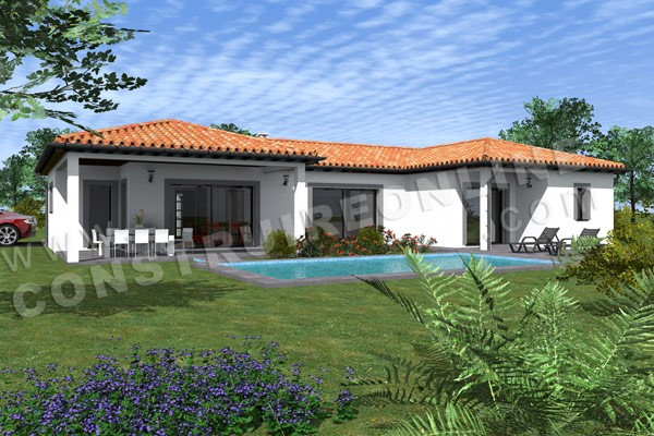 Plan de maison moderne zesty for Terrasse 3d
