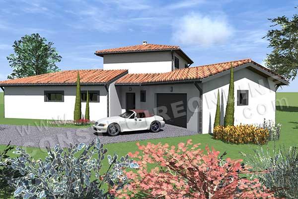 Plan de maison moderne lisbon for Plan de maison moderne a etage