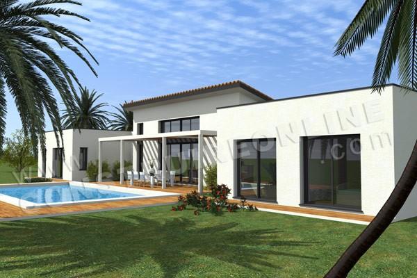 Plan de maison moderne pacific - Modele interieur maison moderne ...