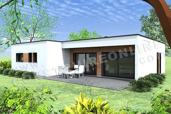 Vente de plan de maison - Plan de maison sans toit ...