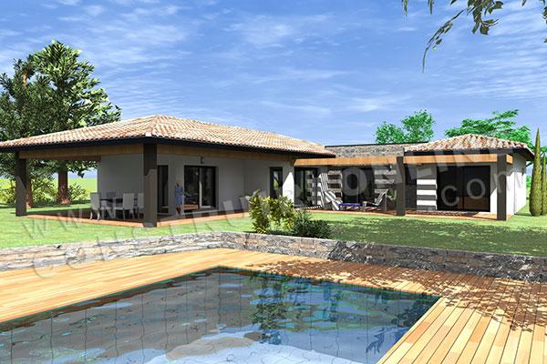 Plan de maison moderne cortez for Voir sa maison en 3d