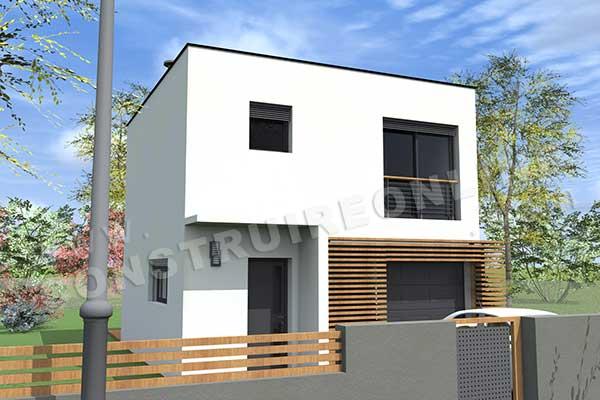 Plan de maison contemporaine atlantis for Construire online