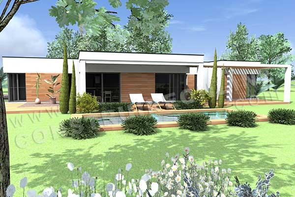 Plan de maison contemporaine atena for Maison moderne 160m2