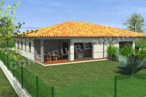 Plan de maison moderne duo for Voir sa maison en 3d