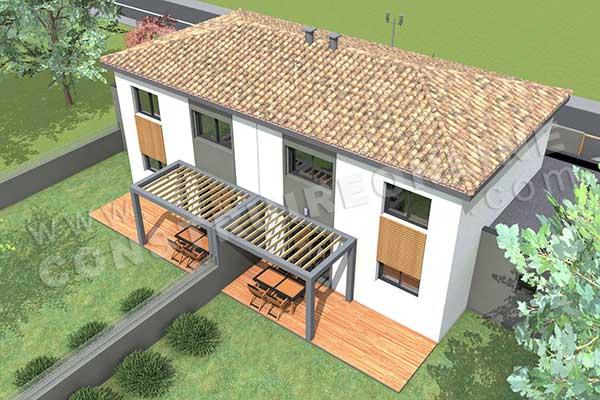 Populaire Plan de maison moderne GAZOLINE TU42