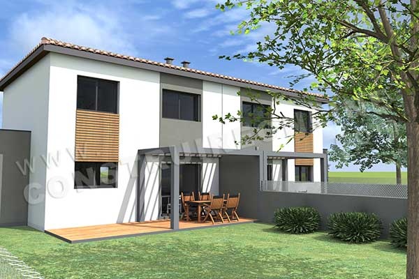 Plan de maison moderne gazoline for Simulation construction maison 3d gratuit