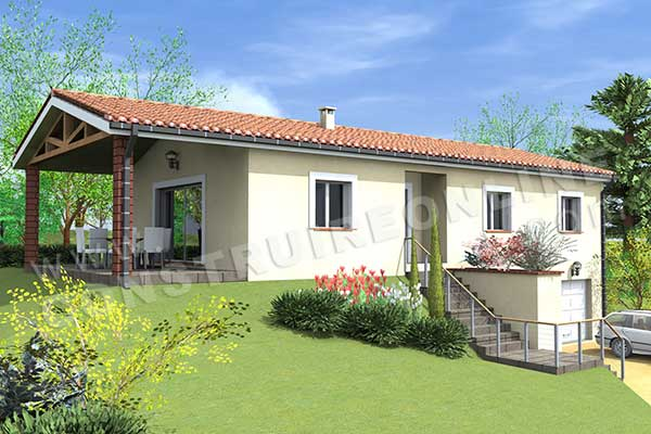 Vente de plan de maison traditionnelle for Prix construction maison 90m2