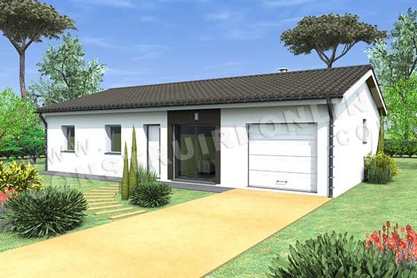 Plan de maison moderne oceane for Voir sa maison en 3d