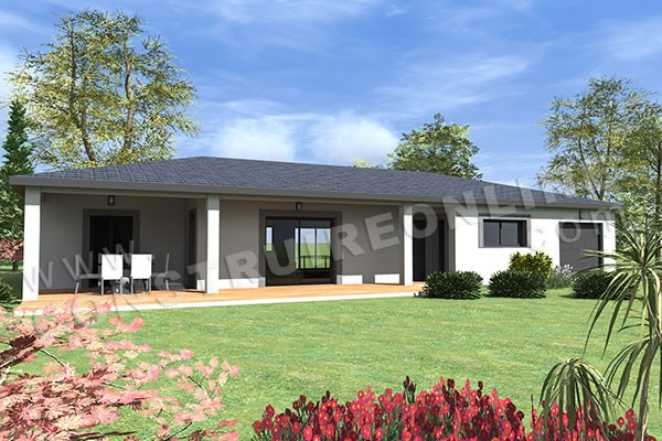 Plan de maison moderne mirage - Plan de maison contemporaine plain pied ...