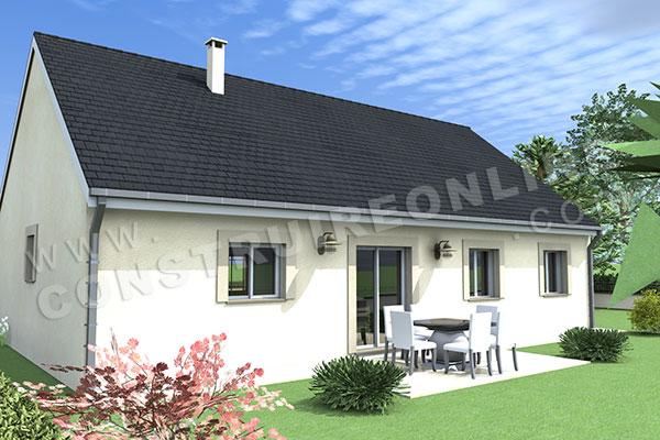 Plan de maison traditionnelle esprit for Plan de maison traditionnelle gratuit