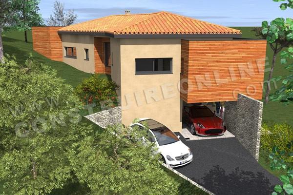 plan de maison garage sous sol