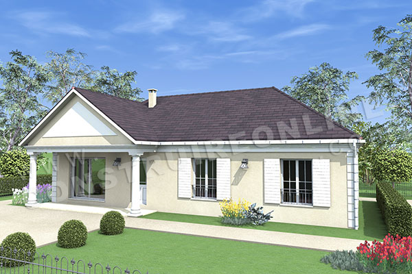 Vente de plan de maison for Alarme garage sous sol