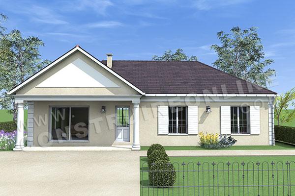Plan de maison traditionnelle chevernay for Plan de maison traditionnelle gratuit