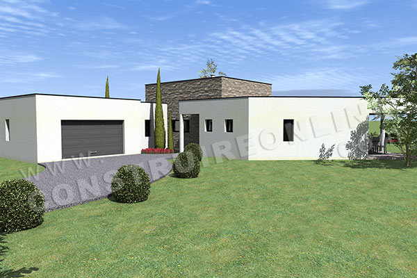 great plan de maison en u amazone garage with modele de for plans maisons en u
