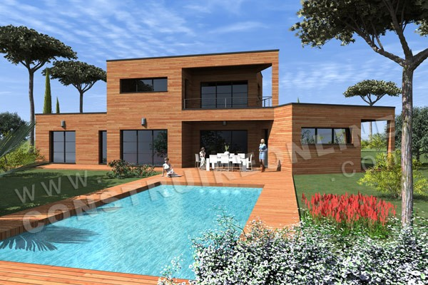 Vente de plan de maison tage for Plan de maison contemporaine a etage