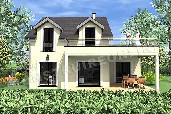 plan de maison moderne elys e. Black Bedroom Furniture Sets. Home Design Ideas