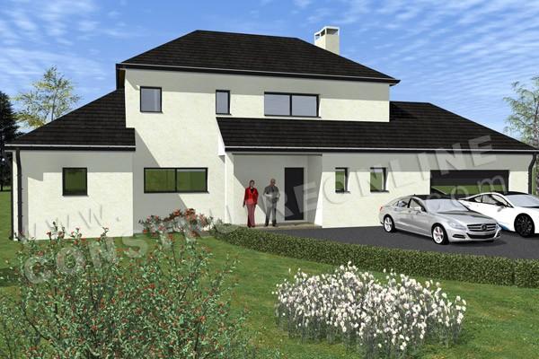 Maison modernes plan maison maison moderne toiture for Plan maison monopente