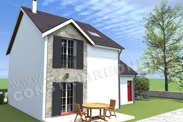 Plan de maison traditionnelle chaumont for Construction virtuelle maison gratuit