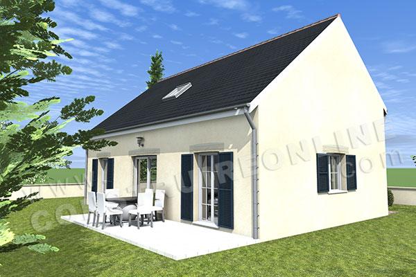 Plan de maison traditionnelle bristol for Voir sa maison en 3d